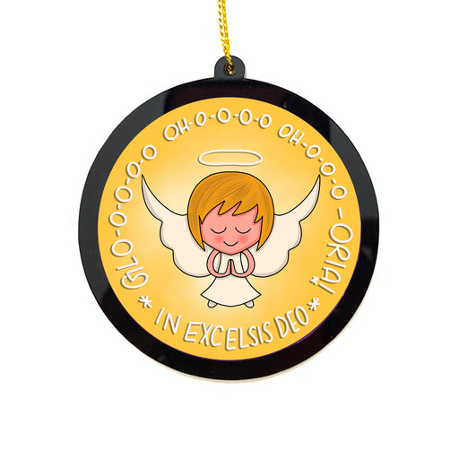 Christmas Ornaments - Acryllic Bauble - Glo-o-ria Angel | Christmas Tree Decor