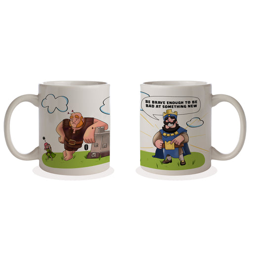 Be Brave Cofeee Mug | Clash Royale Merchandise | Gift for gaming fan