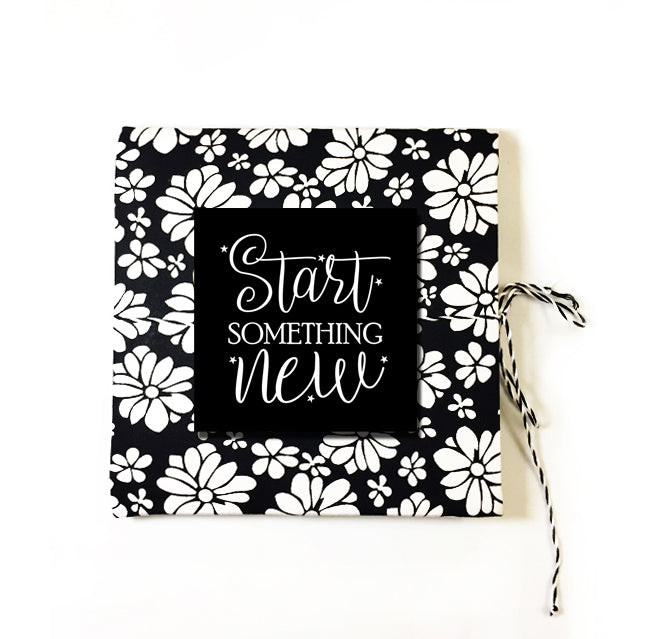 Start Something New | Cloth-bound Journal | Square notebook | Sketchbook