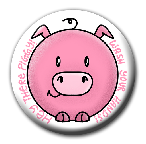Dirty Piggy | Wash your hands fridge magnet