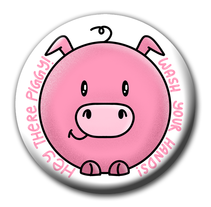 Dirty Piggy | Wash your hands badge