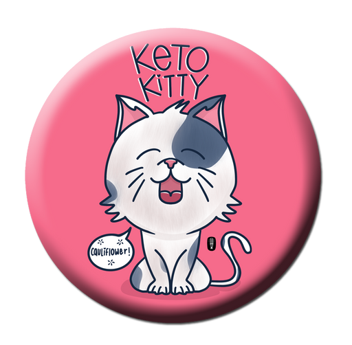 Keto Kitty backpack badge