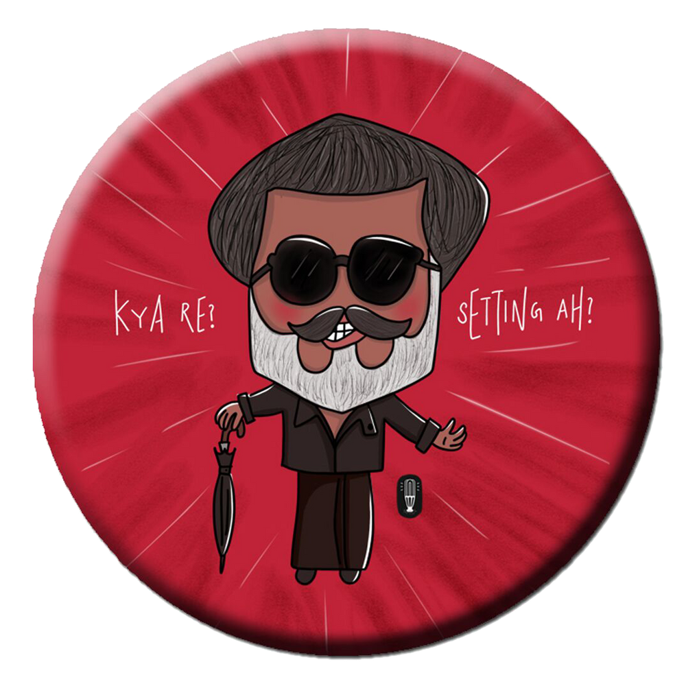 Rajinikanth Tribute Fridge Magnet (5.8cm)