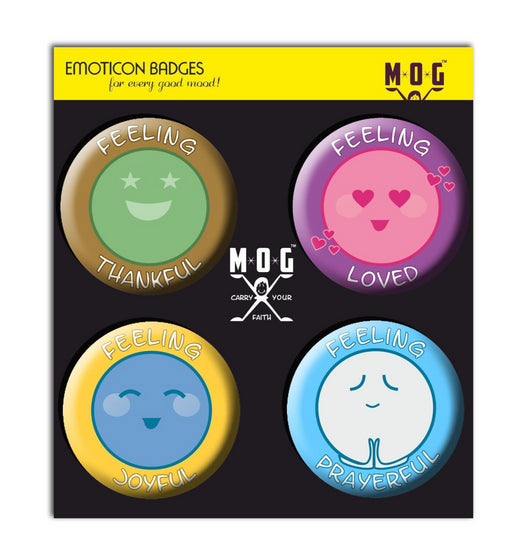 Emoticon badges - Set of 4