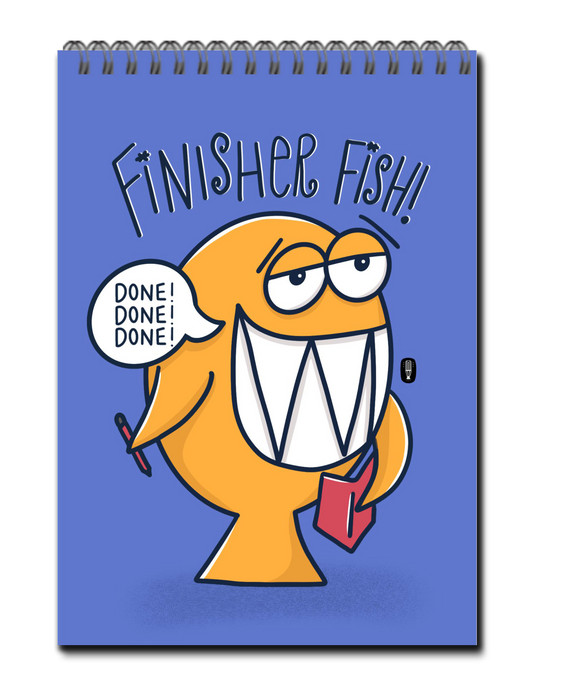 Finisher Fish To-Do List book | Spiral bound