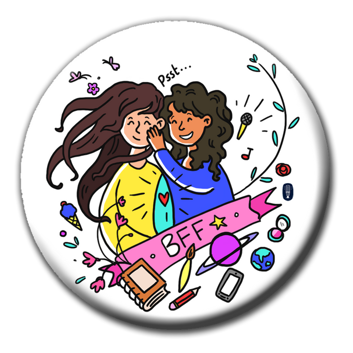 Best Friends Forever (BFF) Badge (5.8cm)