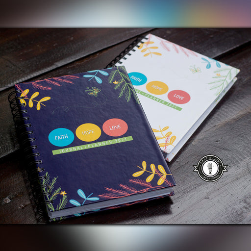 Faith Hope Love Journal + Planner 2021 | Hardcover | Blue