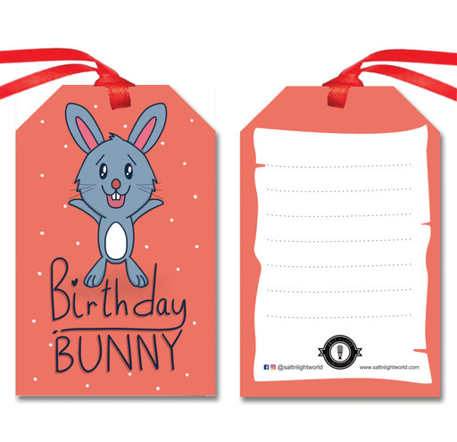 Birthday Bunny gift tags | Set of 10
