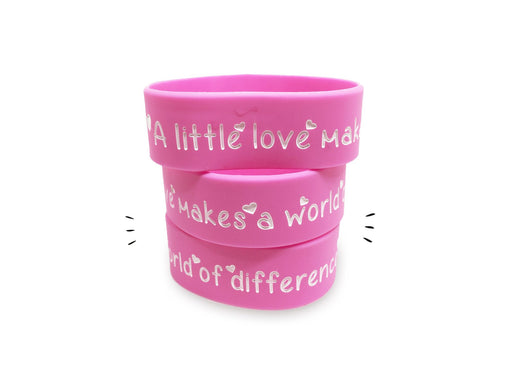 A Little Love can Make a World of Difference Wrist Band (1 inch)