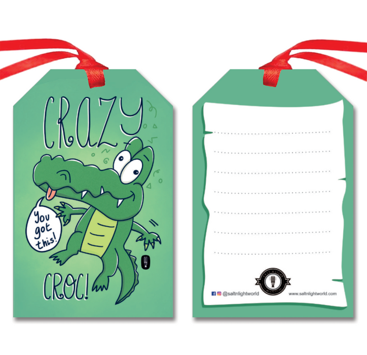 Crazy Croc gift tags | Set of 10