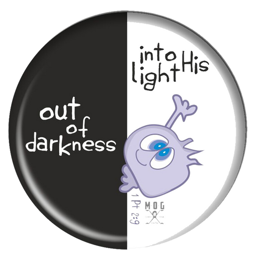 Darkness to light Fridge Magnet (5.8cm)