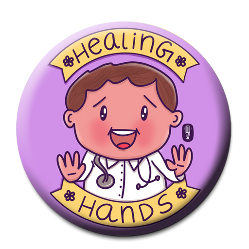 Healing Hands Doctor Fridge Magnet  (5.8cm)