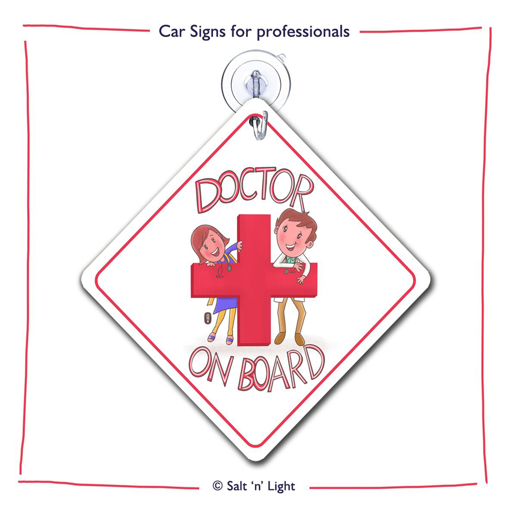 Doctor on board Car Sign