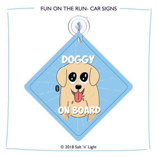 Doggy on Board Car Sign