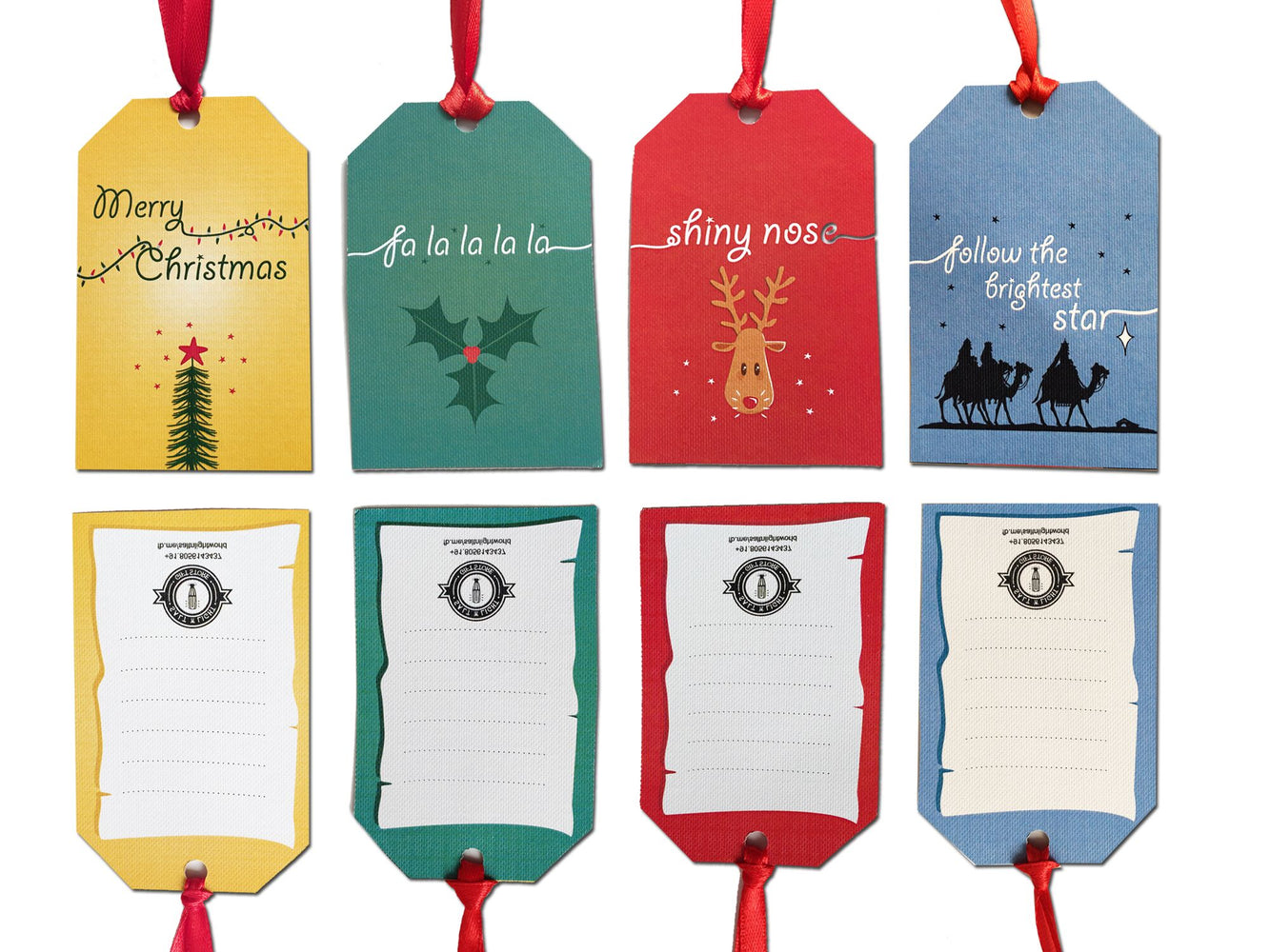 Assorted Christmas Gift Tags | Set of 20