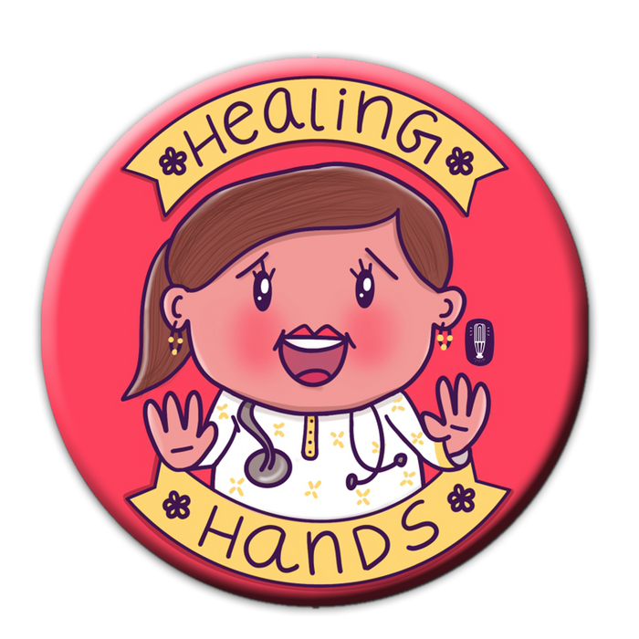 Healing Hands Doctor Fridge Magnet (lady doc)