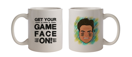 Game face on Coffee Mug