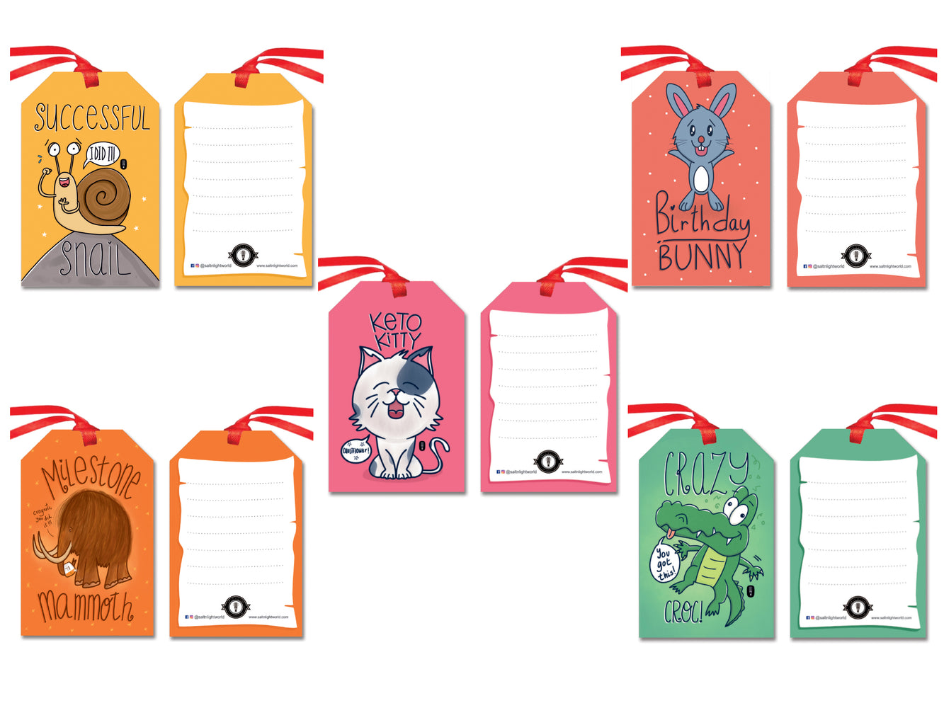 Adorable Animals gift tags | Set of 10