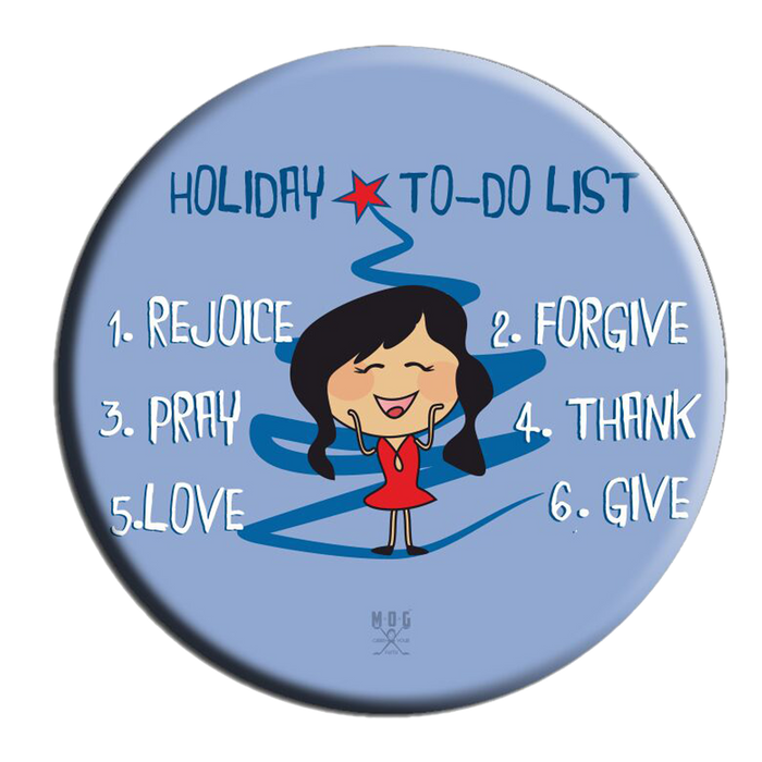 Holiday 2 Do list (B) Fridge Magnet (5.8cm)