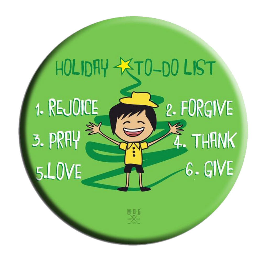Holiday 2 Do list (Boy) Fridge Magnet (5.8cm)