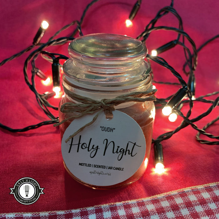 "'Holy Night"" Oudh- Mottled Jar Candle 