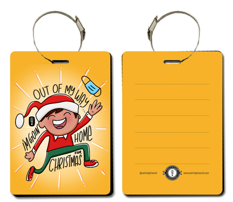 Home for Christmas luggage tag- Guy version | Handbag tag