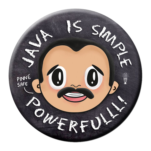 Java is simple Badge (5.8cm)