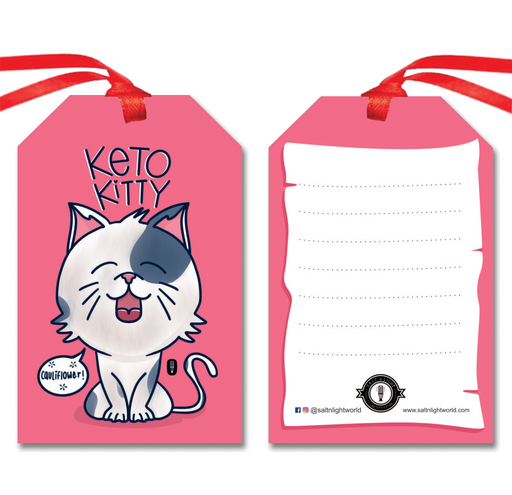 Keto Kitty gift tags | Set of 10