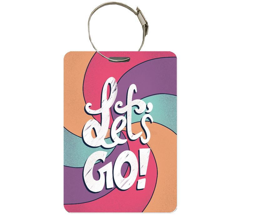 Let's Go luggage tag | Handbag tag