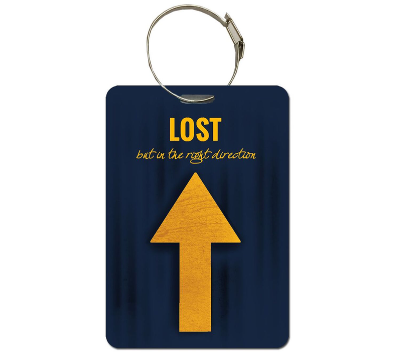 Lost (In the right direction) luggage tag | Handbag tag