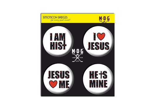 I love Jesus Badges (Set of 4)