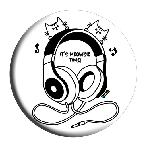 Meowsic Time Badge (5.8cm) | iLIZtrate