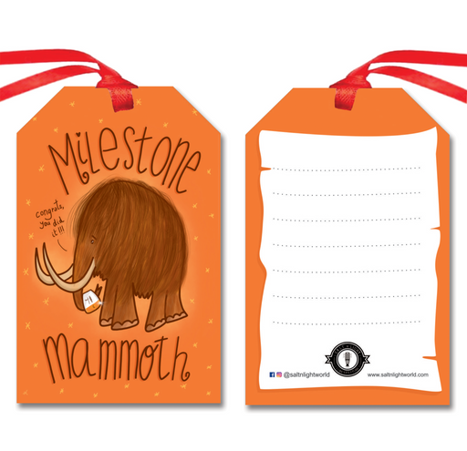Milestone Mammoth gift tags | Set of 10