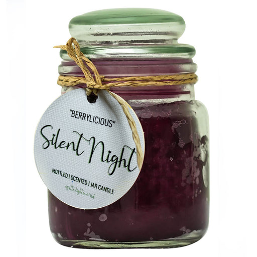"""Silent Night"" Berrylicious - Mottled Jar Candle 