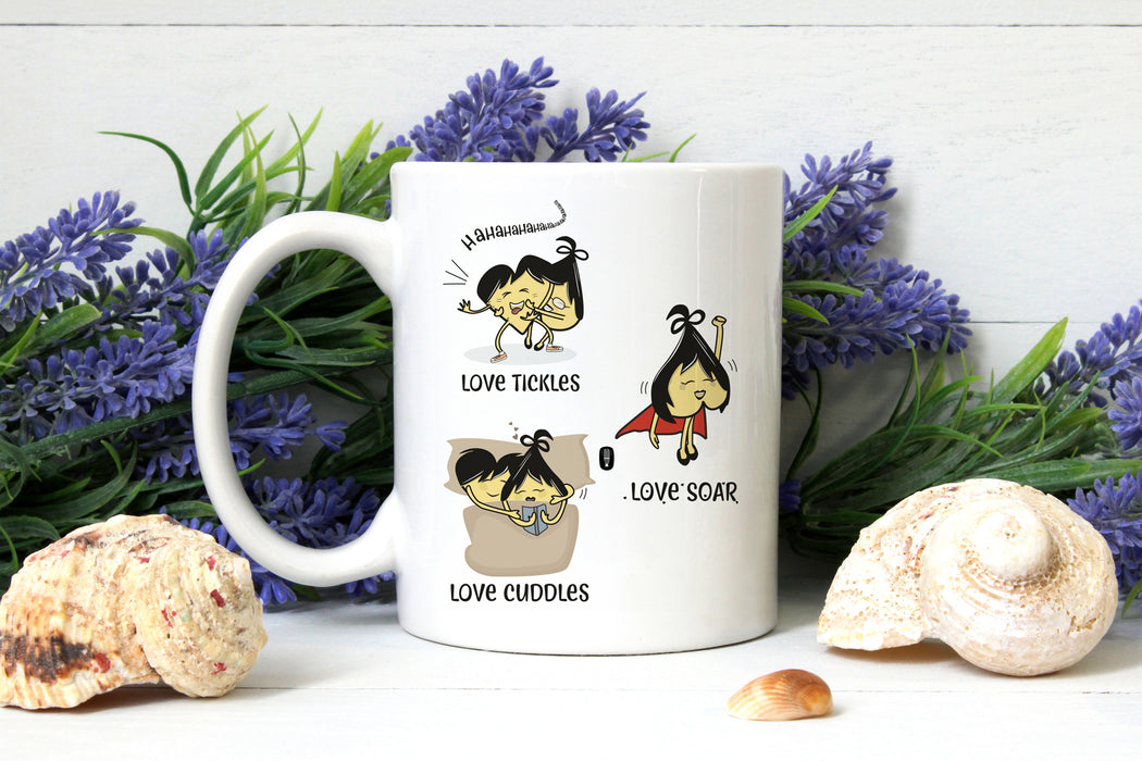 'Love does...' coffee mug | Valentine's Day Gift | Gift for him | Gift for her