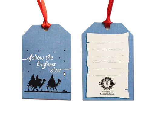 Follow the brightest star Christmas Gift Tags | Set of 10
