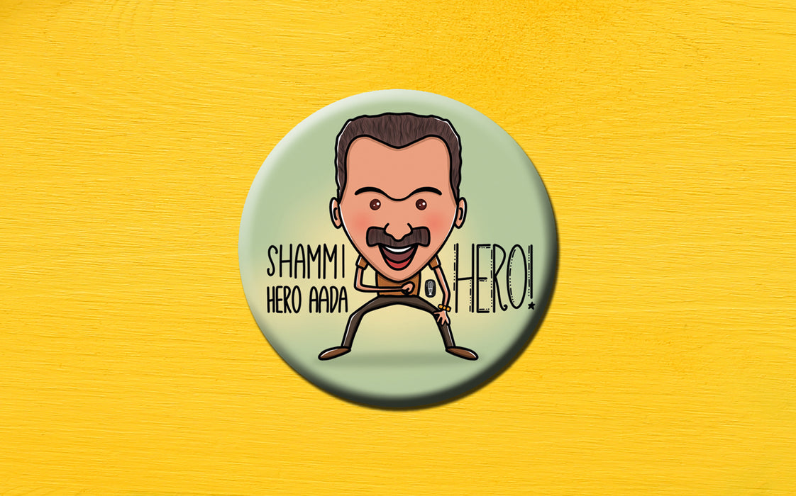 Fahad Fasil | Shammi Tribute Badge (5.8cm) | Kumblangi Nights