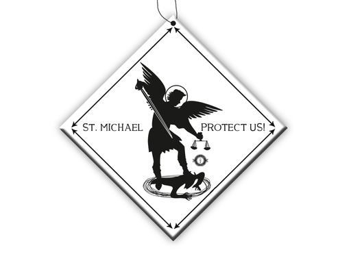 St. Michael Car Dangler