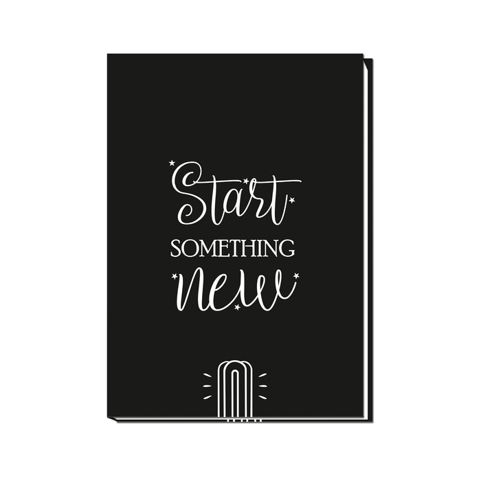 Start Something New Sketchbook | Unruled Notebook | 100 pages