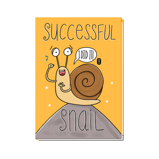 Successful Snail | Unruled notebook | 100 pages