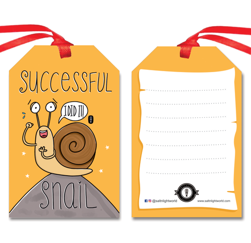 Successful Snail gift tags | Set of 10