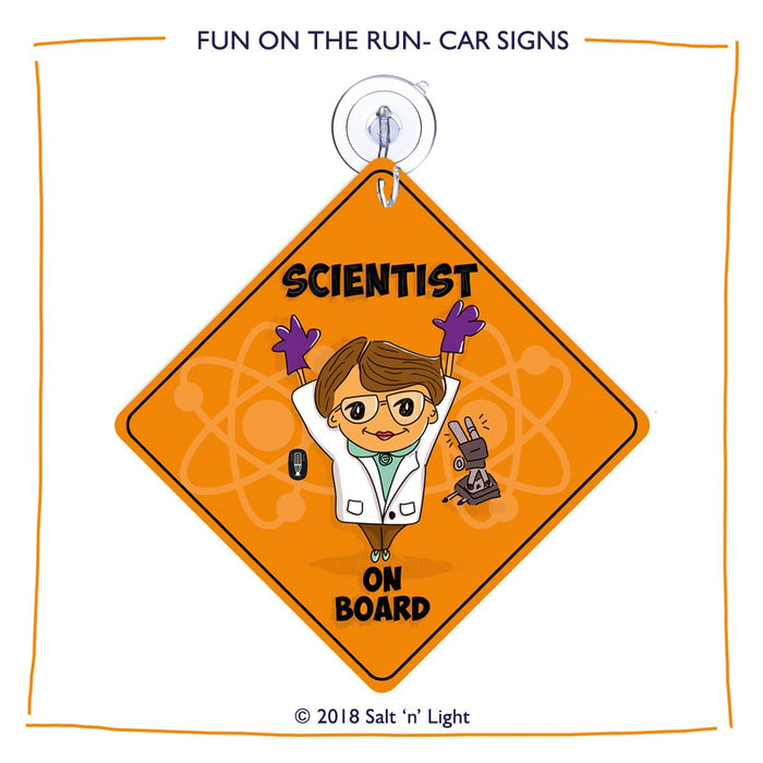 Scientist (Female) Car Sign