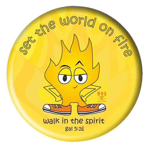 World on Fire Fridge Magnet (5.8cm)