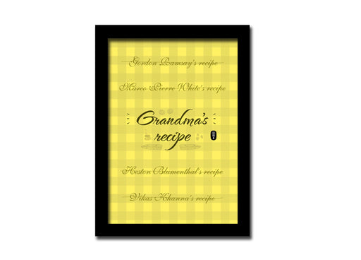 Grandma's recipe | A5 size Frame | For desk and Wall