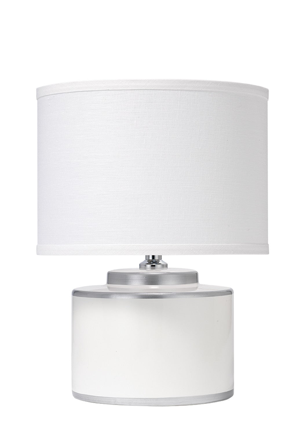 White Basin Table Lamp with Shade