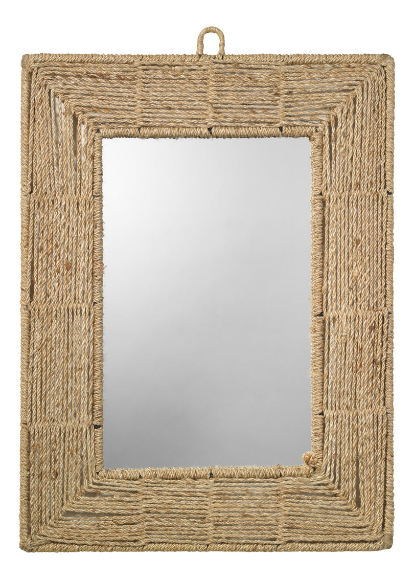 Rectangular Jute Rope Mirror