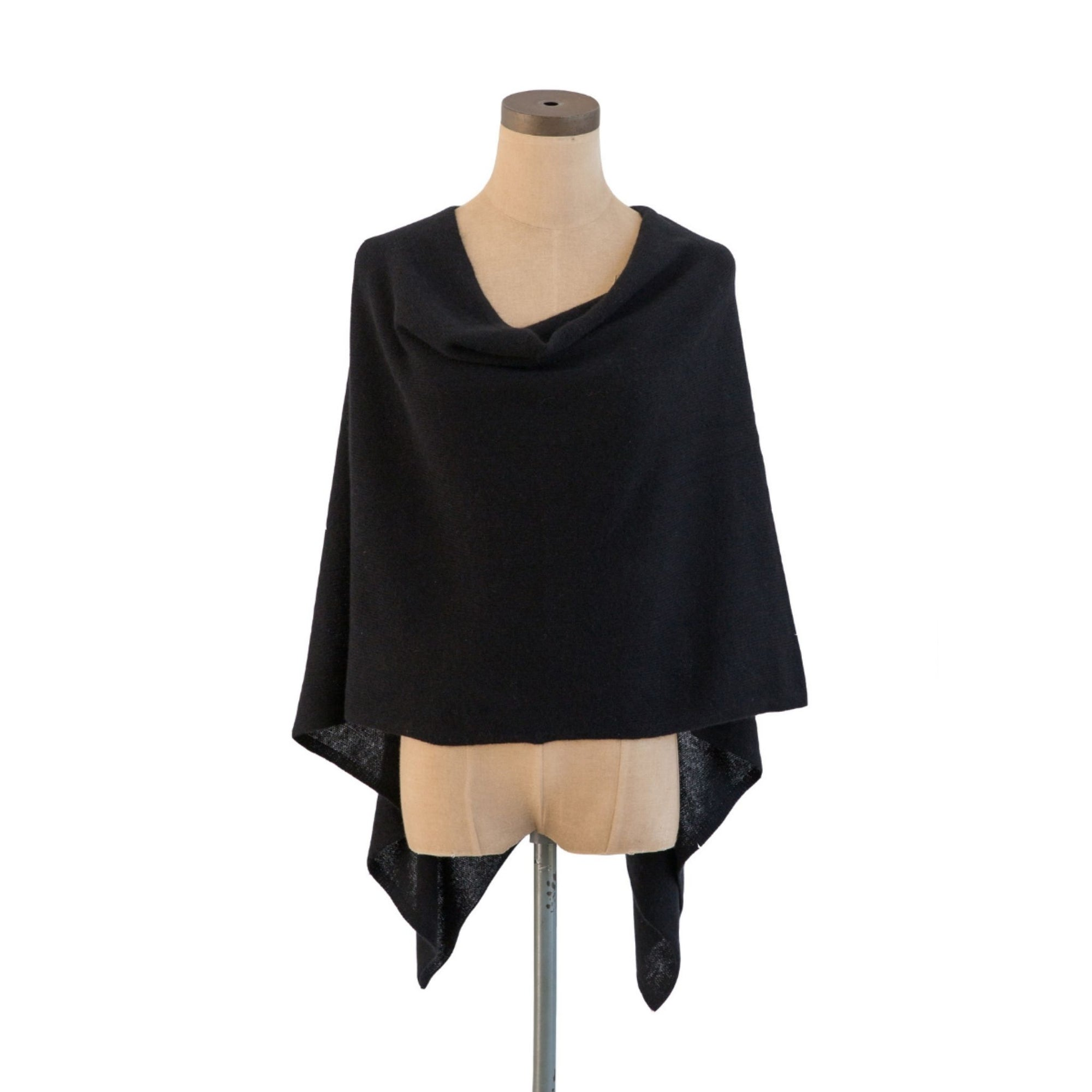 Ebony Cashmere Dress Topper