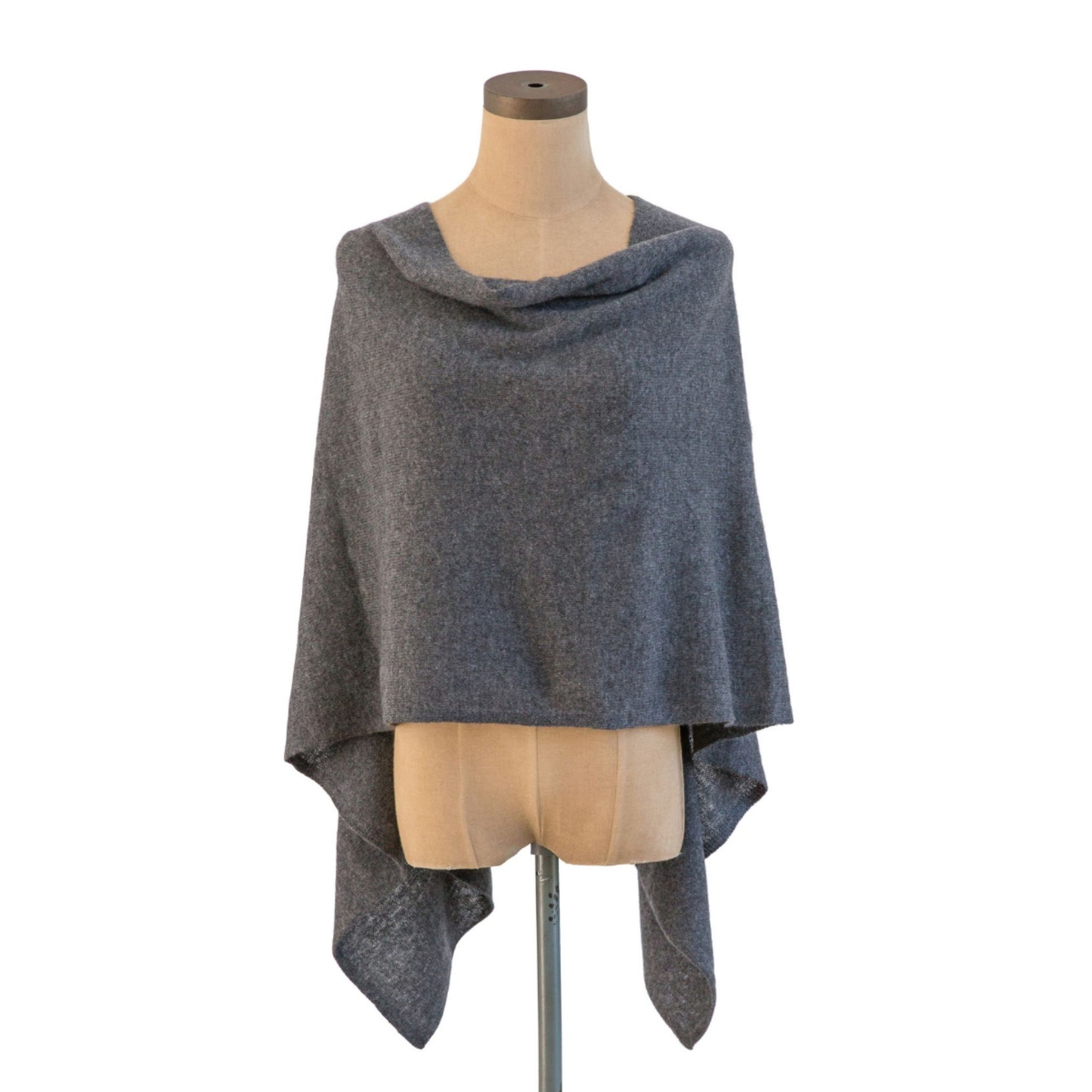 Graphite Cashmere Dress Topper