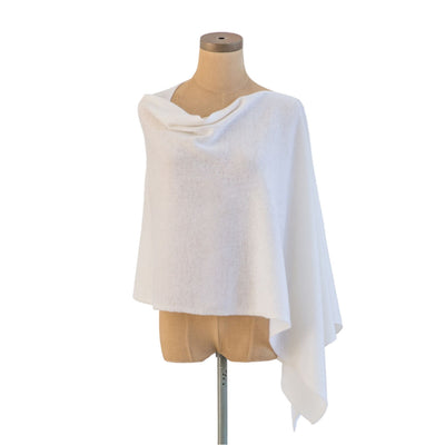 White Cashmere Dress Topper