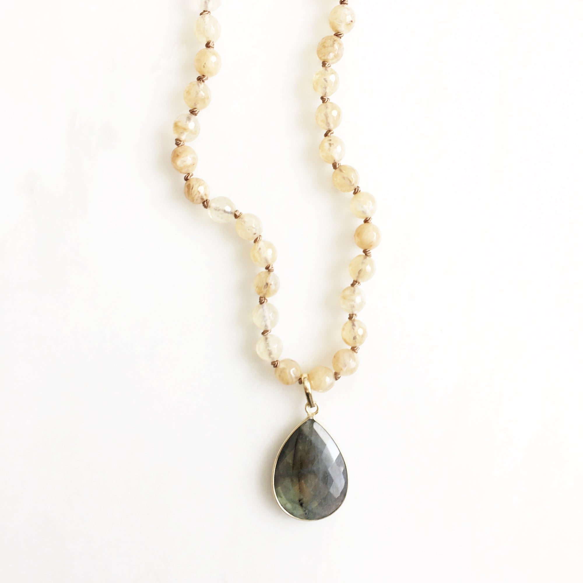 Cove Champagne Quartz Necklace